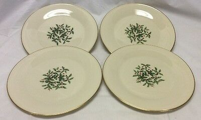 Vintage Lenox Holiday Special Dinner Plates Set Of Four 4