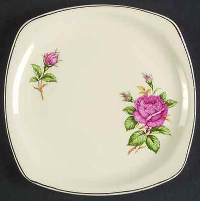 Paden City Pottery RED ROSE Square Salad Plate S825271G3