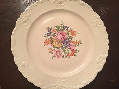 Antique Fine China hard to find Taylor Smith Taylor Floral Diner Plate 3 each