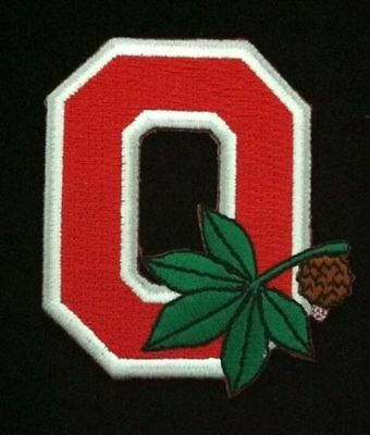 OSU Ohio State Buckeyes Embroidered Iron On Patch Old Stock 3 x 2  RARE NICE
