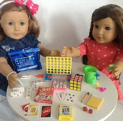 Mini Game Night for American Girl Doll 18 Accessories SET