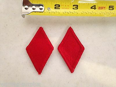 Lot of 2 U-S- ARMY 5th INFANTRY DIVISION Patches Red Diamond Class A Uniform