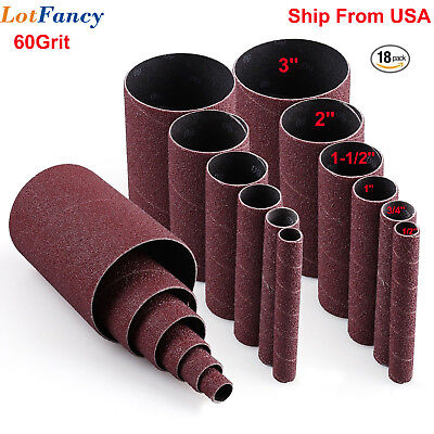 60-Grit Oscillating Spindle Sanding Sleeves Combo 18 Pack