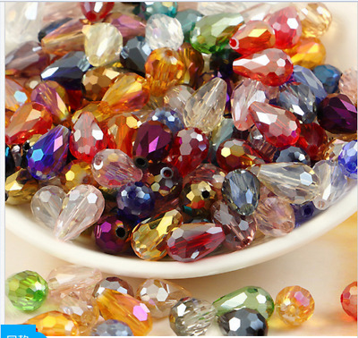 wholese 203050pcs AB Teardrop Shape Tear Drop Glass Faceted Loose Crystal Bead