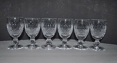 SET OF 6 Waterford Crystal COLLEEN Short Stem WHITE WINEGlasses 4 12