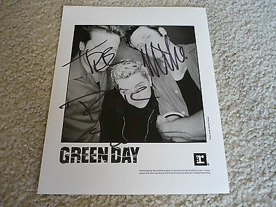 Green Day Signed Autographed 8x10 Photo Vintage 90s AUTHENTIC
