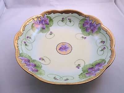 Hand Painted Limoges Bowl - Whites Art Co- -  Pickard Competitor
