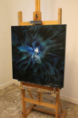 Original Art Stretched Canvas Abstract Modern Oil Painting Signed Tara Baden