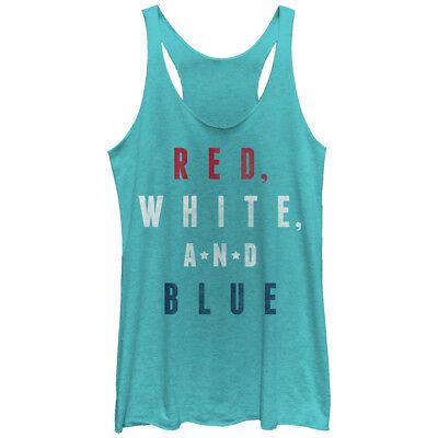 Lost Gods 4th of July Red White Blue Womens Graphic Racerback Tank
