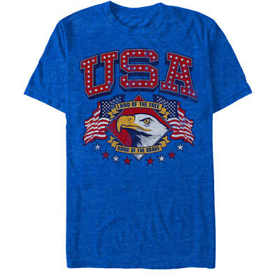 Lost Gods Fourth of July USA Free Brave Mens Graphic T Shirt