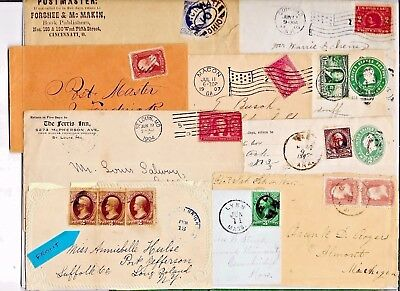 US POSTAL HISTORY  EARLY  COVER COLLECTION BUILDER LOT OF 10 ENTIRES   N3058