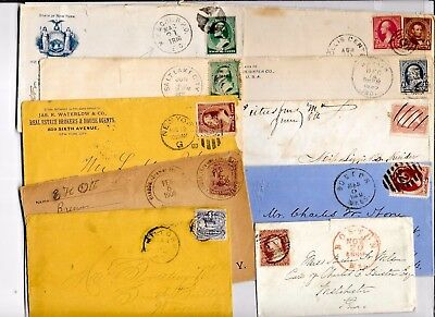 US POSTAL HISTORY  EARLY  COVER COLLECTION BUILDER LOT OF 10 ENTIRES   N3059