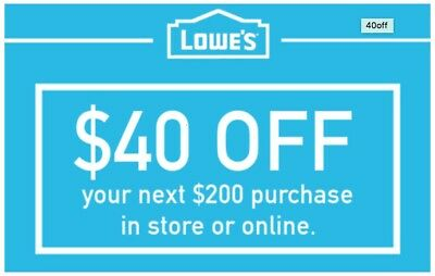 THREE 3x Lowes 40 OFF 200 Lowes-Coupons  Exp- 93017 Fast Delivery-