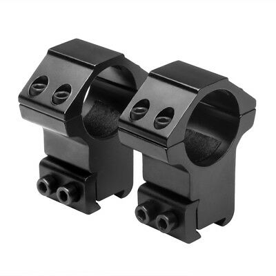 NcSTAR 1 in- Aluminum Rifle Scope Mount Rings Pair 38 in- Dovetail High Black