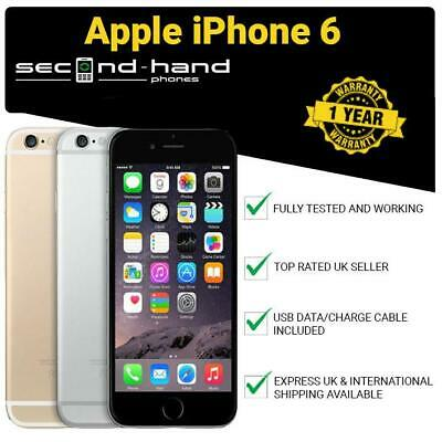 Apple iPhone 6 16GB 32GB 64GB 128GB Unlocked GoldSilverSpace Grey 12M Warranty