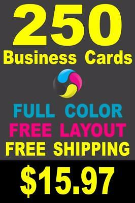 250 Full Color Gloss Custom Business Cards - Plus FREE Shipping 15-97