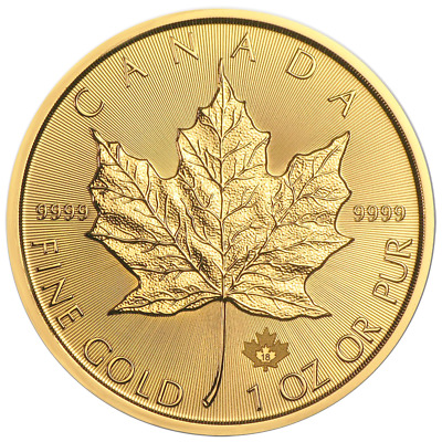 2018 50 Gold Canadian Maple Leaf -9999 1 oz Brilliant Uncirculated