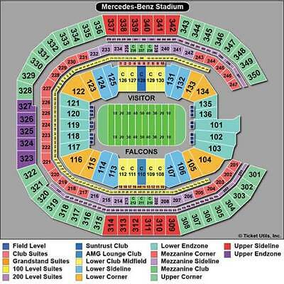 2  Atlanta Falcons vs- New Orleans Saints SECTION 229
