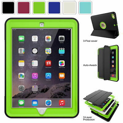 For Apple iPad 9-7 inch 5th 6th Gen 2018 Screen Protector Shockproof Case Cover