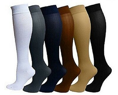 6 Pairs Compression Socks Stockings Graduated Support Mens Womens S-XXL