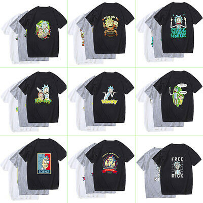 Rick Morty And Anime Men T-shirts Casual Short Sleeve Cartoon Funny Tee Tops