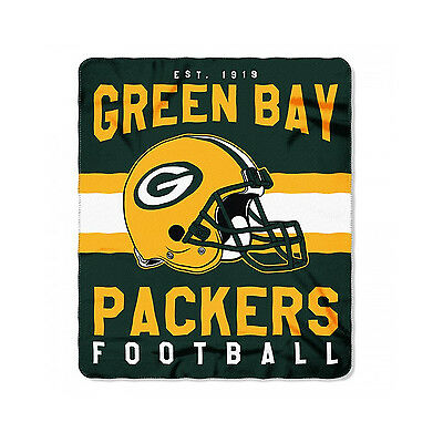 New Style Football Green Bay Packers Fleece blanket Soft Throw 50 x 60