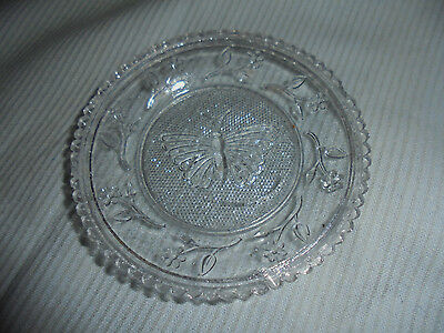 Cup Plate Pattern Or Pressed Glass Butterfly - Flowers 3-25 Across Vintage