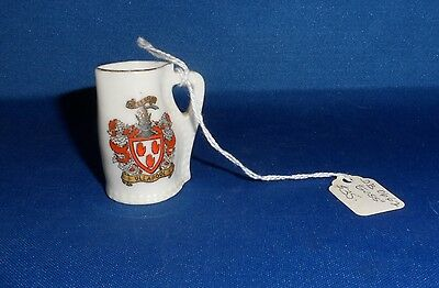 Vintage Miniature Pitcher W-H Goss with Crest - Black Jack at Winchester College