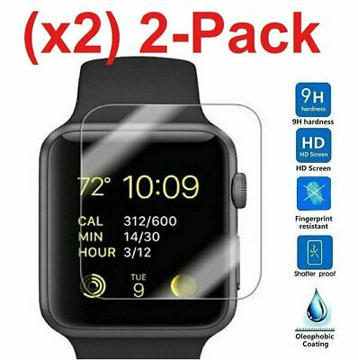 2-PACK Tempered Glass Screen Protector For Apple Watch  Series 2  38mm42mm