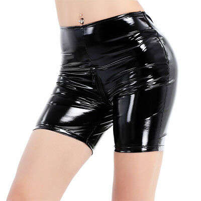 FRAUEN LACKLEDER ENGEN SHORTS CLUB HOT PANTS UNTERW SCHE KAUSALEN SHORTS HOSEN
