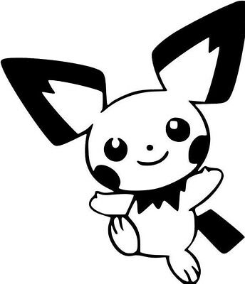 Pichu Pokemon Go Vinyl Decal Sticker Car  Wall  Laptop  Window