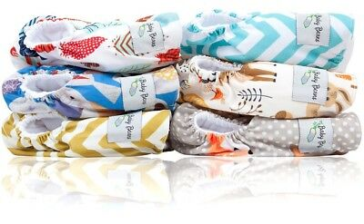 NWT Reusable Woodland Baby Cloth Diapers One Size Fits All Lot of 6 - Inserts