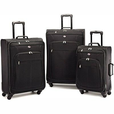 American Tourister 64590-1041 Pop Plus 3 Piece Nested Spinner Luggage Set Black