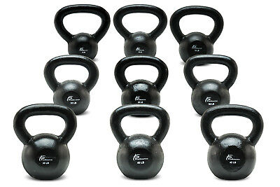 ProSource Solid Cast Iron Kettlebells Weights for Full Body Workout 5-45 lbs