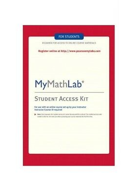 Mymathlab access code for student My Math Lab New-