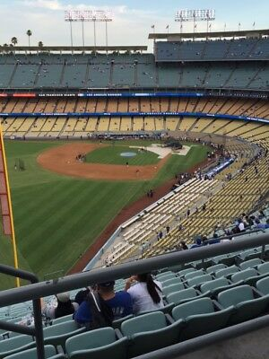 UP TO 2 DODGERS RESERVE TICKETS 327 AISLE 53 ROW BB vs- ANGELS AISLE SEATS