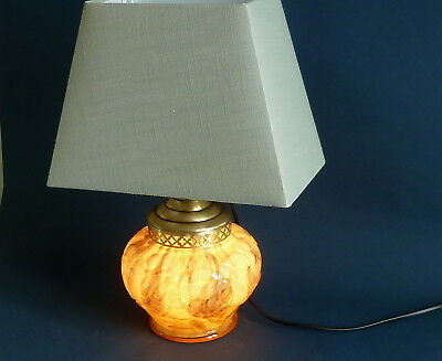 Art deco  marbled  glass table lamp