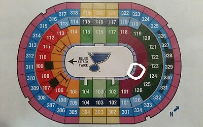 2 Aisle Tickets San Jose Sharks  St- Louis Blues 32718 St- Louis MO