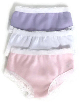 3pk Panties-PinkWhiteLavender for 18 American Girl Doll Clothes Underwear