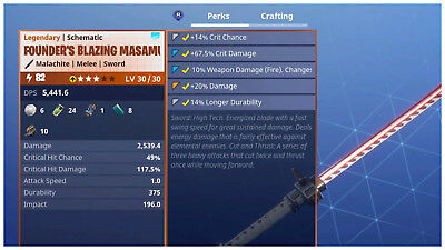 PS4PC Fortnite PVE Save the World - Power Level 82 Founders Masamune LV 3030
