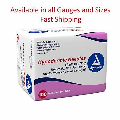Dynarex Hypodermic Sterile Needles Different Gauge - Size From 5 To 100 Needles