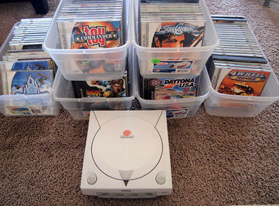 Sega Dreamcast games lot system console all complete many rare games