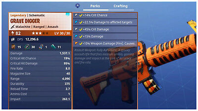 PS4PC Fortnite PVE Save the World - Power Level 82 Grave Digger LV 3030