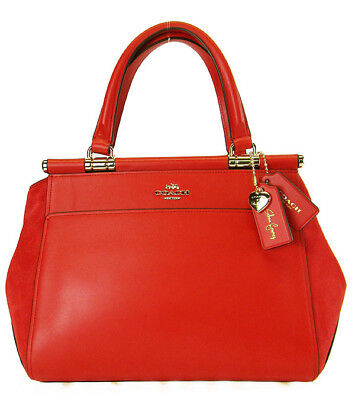 COACH 24053 SELENA GOMEZ COLLECTION GRACE Red Leather Satchel Bag Msrp 395