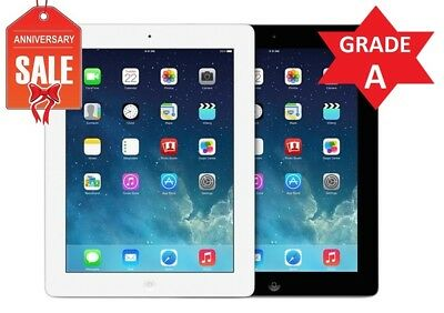 Apple iPad 4th WiFi - Cellular Unlocked  Black White  16GB 32GB 64GB 128GB R