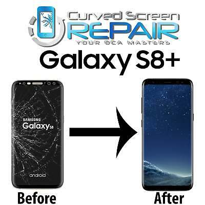 Samsung Galaxy S8- Plus Cracked Screen Repair Glass Replacement Mail In Service