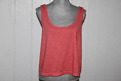 American Eagle Outfitters Orange Sleeveless Loose Tank Top wLace Back Sz XL