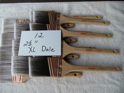 Purdy paint brush lot of 12  XL Dale 2-5  brushes-  No covers-  Angled bristles
