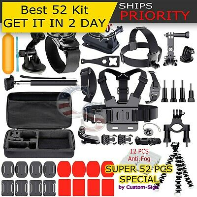Gopro Accessories Outdoor 52-in-1 Kit Accessory for GoPro Hero 3- 4 5 2 1 Camera