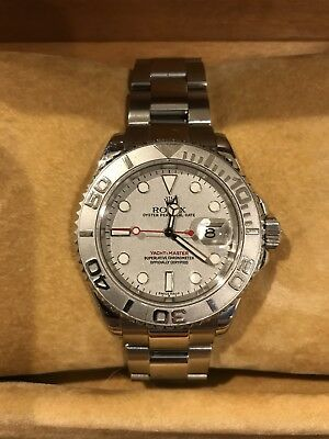 Rolex Yachtmaster Rolesium 16622 Platinum Dial NEAR MINT with BOX PAPERS